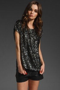 Backstage Sequins Nye Top black