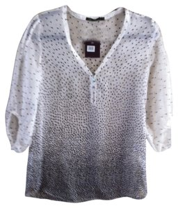 Other Sheer Casual Summer Top White/Black