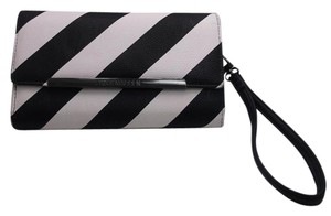 Steve Madden Black and White Stripe 3 Fold Wallet Clutch w Free Shipping
