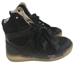 Alexander McQueen Leather Mesh Limited Edition black Athletic