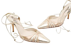 Oscar de la Renta Evening Heels Vintage Gold Pumps