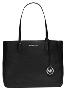 Michael Kors Next Day Shipping Tote in Black / Silver