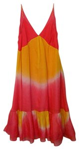 Diane von Furstenberg Silk Designer Tie Dye Summer Dress