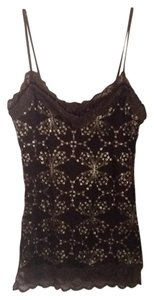 Backstage Top Brown with gold