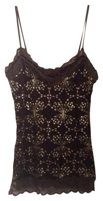 Item - Brown with Gold Tank Top/Cami Size 4 (S)