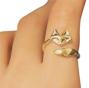 Fox Ring in Gold, Size adjustable