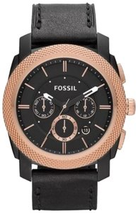 Fossil Fossil Male Dress Watch FS4715 Black Chronograph