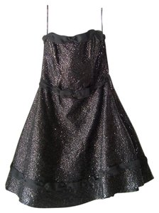 Betsey Johnson Strapless Sequins Cocktial Dress