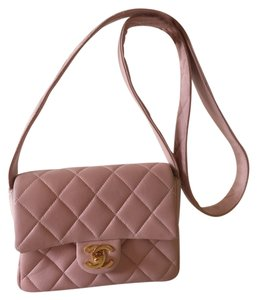 Chanel Lambskin Leather 2.55 Quilted Gold Cheap Flap Woc Wallet On Chain Cross Body Bag