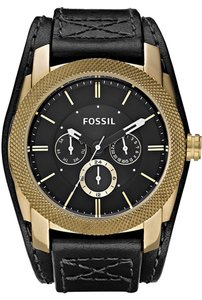 Fossil Fossil Male Dress Watch DE5014 Black Chronograph