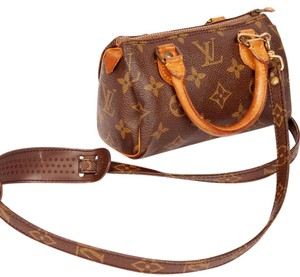 Louis Vuitton Speedy Mini Speedy Strap Monogram Cross Body Bag