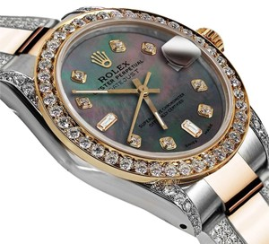 Rolex Ladies 26mm Oyster Perpetual Datejust Custom Color set Diamond Accent