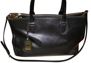 Ralph Lauren Double Zip Sm Newbury Leather Shoulder Bag