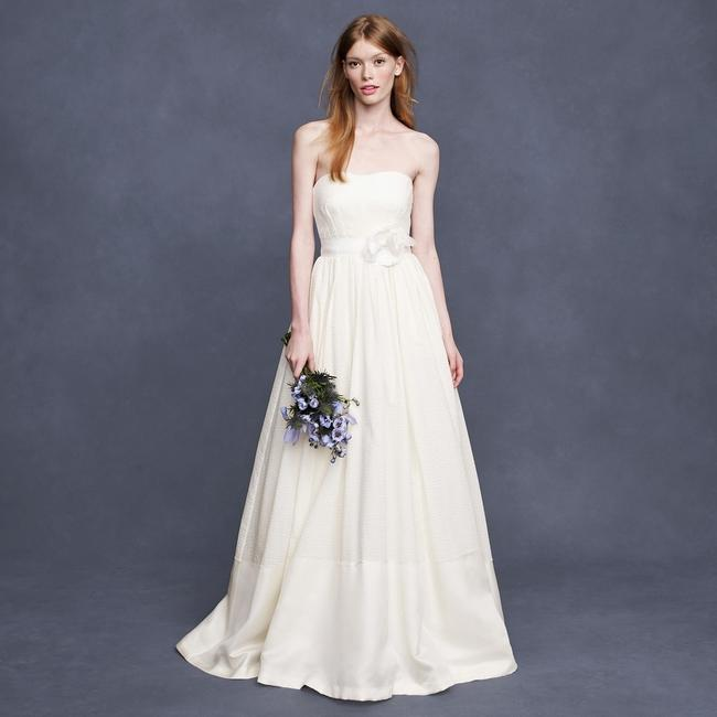 J.Crew Ivory Cotton Corliss Wedding Dress Size 2 (XS) J.Crew Ivory Cotton Corliss Wedding Dress Size 2 (XS) Image 1