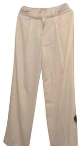 Nicole Miller Wide Leg Pants White silk, lined