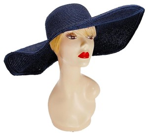 Other Blue Navy Beach Sun Cruise Summer Large Floppy Hat