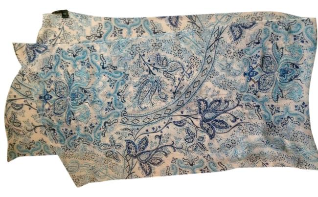 Item - Blue and White Silk Scarf/Wrap