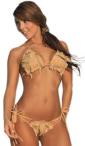 UjENA Ujena 2pc Bikini Swimsuit Washable Lambskin Fabric Diamond Head 2052 Sz XS S M L XL 1x