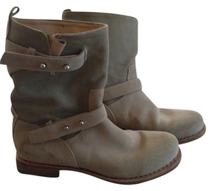 Rag & Bone And & Moto Motorcycle Suede Biege Boots