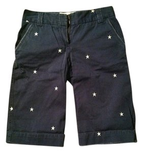 J.Crew Bermuda Shorts navy blue with white stars