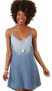 Cloth & Stone short dress Denim/Blue on Tradesy