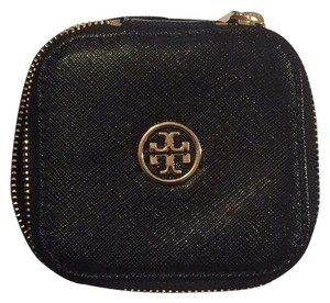 Tory Burch Black Zip Jewelry Case