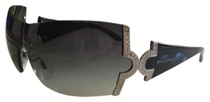 BVLGARI BVLGARY Oversized Shield Shap Sunglasses With Swarowski Crystals