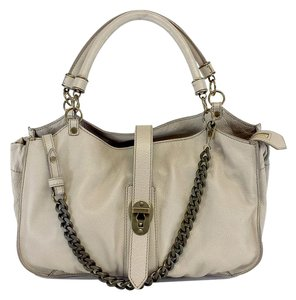 Burberry Medium Taupe Grainy Leather Shoulder Bag