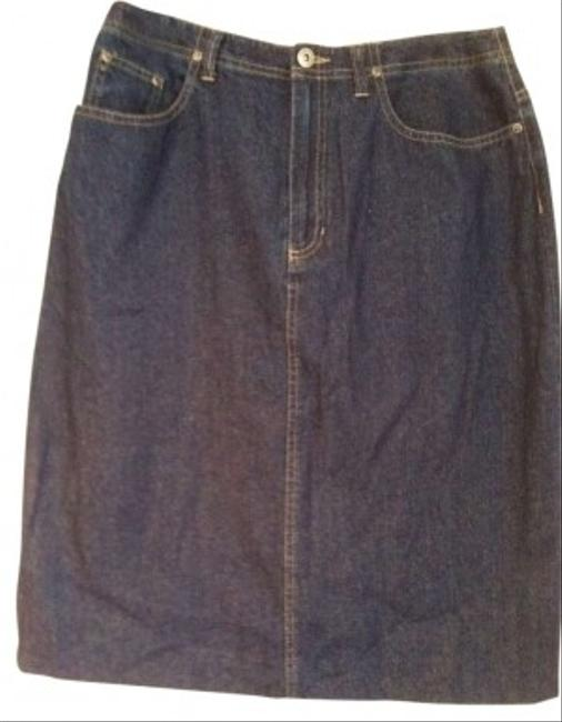 Liz Claiborne Skirt blue denim