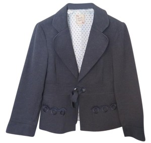 Nanette Lepore Navy Blue Jacket with Tie Closure