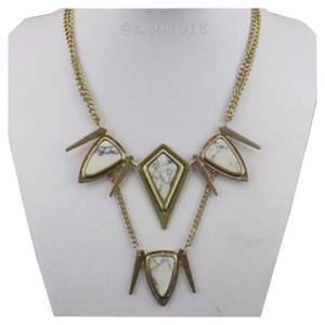 New 2 Layer Boho Geometric Natural Stone Statement Necklace