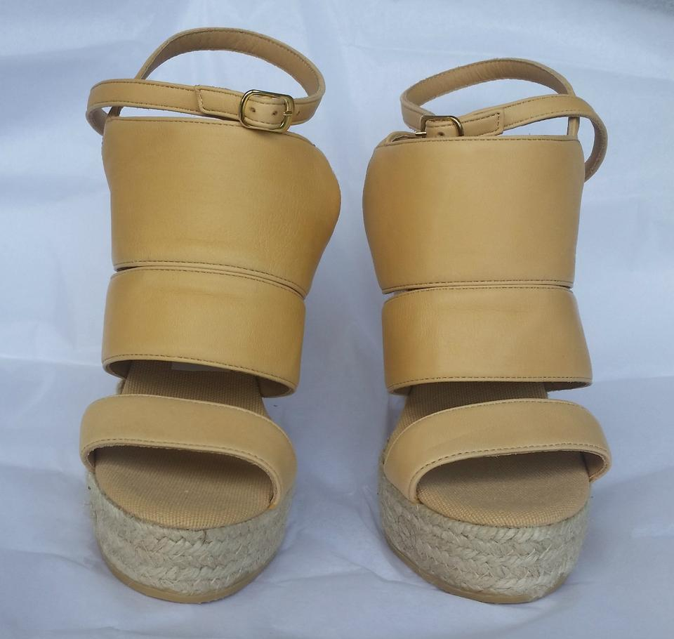 86a45319b53 Bettye Muller Espadrille Tam Leather Ankle Strap Light Tan Wedges Image 6.  1234567