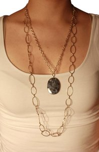 Express Long Blue Gem Necklace
