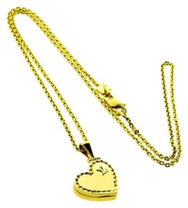 Louis Vuitton Louis Vuitton 18k Yellow Gold Heart Coeur Locket Charm Pendant Necklace