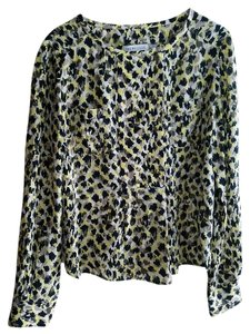See by Chloé Silk Print Top black, yellow, mocha