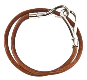 Herms Jumbo Hook Brown Bracelet