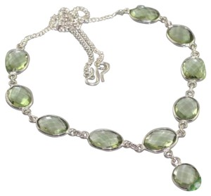 New Peridot .925 Silver Necklace 16.8