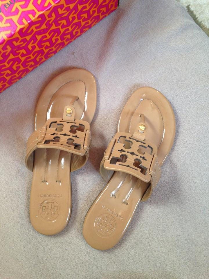37cddc6f48400 Tory Burch Tan   Sand Square Miller Patent Leather Style No 11118203 ...