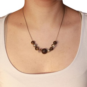 Express Short Wooden Necklace