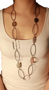 Express Long Large Gem Necklace