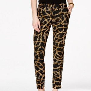 MICHAEL Michael Kors Skinny Pants Black & Gold