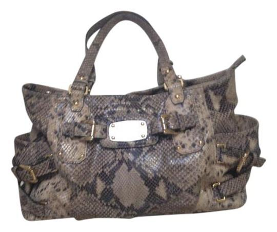 Michael Kors Python Satchel in Gray