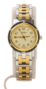 Hermès Swiss Silver and Gold Plated Women Clipper Watch