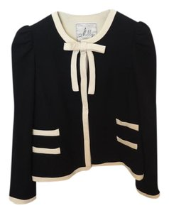 MILLY Vintage Bow Black and Cream Blazer