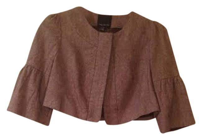 The Limited Office Cropped Quarter Linen Cardigan