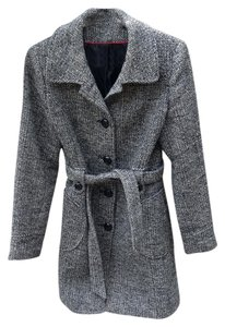 American Rag Classic Tweed Black Grey Coat
