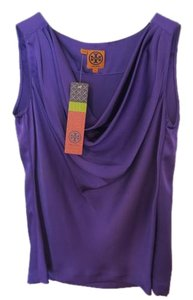 Tory Burch Silk Brand New Cowl Purple Top Ultraviolet
