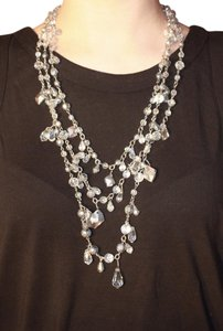 White House | Black Market Long Layered Silver Necklace