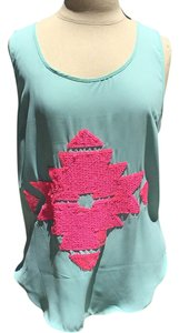 Lulumari Top Turquoise / hot pink