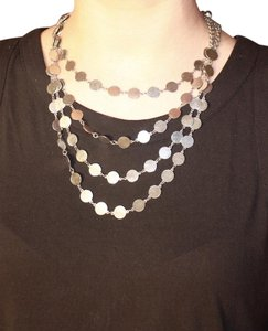 Express Layered Silver Necklace